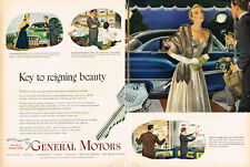 Vintage 1950 2-Page Magazine Ad General Motors Key to Reigning Beauty