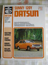 DATSUN SUNNY 120Y B210 (1973-76) - NEW Old Stock Book/SP Manuel