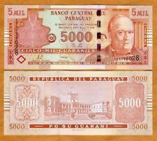 Paraguay Billet 5000 Guaranie 2008 NOUVEAU NEW UNC NEUF