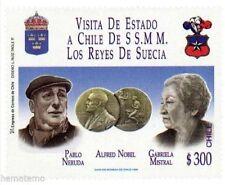 Chile 1996 #1859 Visita de Estado Reyes de Suecia - Pablo Neruda MNH