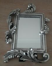 Lovely Vintage Silver Metal  Mirror 1950s