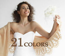 Wedding Wrap Shoulder Shawl Bridal Cover Up Knitted Stole Bridal Bolero