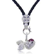 Synthetisch hergestellte Halsketten mit Edelsteinen aus Sterlingsilber