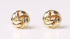 CLASSY GOLD TONE INTERTWINED METAL ROUND STUD EARRINGS TIMELESS PIECE (CL22)
