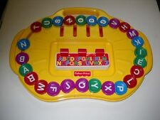 Vintage 1997 Fisher Price Learning Toy Words Letters Alpha Go Round Alphabet