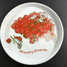 Strawberry Shortcake Vintage 80s Cheinco Red Round Metal Serving TV Tray 14""