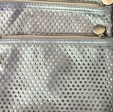 2 Ipsy Silver Mesh Make Up Bags ~no contents (Bags Only)
