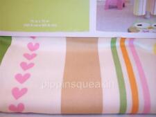 Circo 100 % cotton Shower Curtain 72 x 72 Pink Hearts Stripes Love 'n Nature