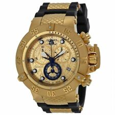 New Mens Invicta 15802 Subaqua 18k Gold 50mm Stainless Steel SWISS Watch