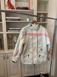 Spyder Ski Jacket Womens Size 8 Cream Pink
