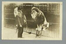 Minneapolis Minnesota Rp c1910 Lion Tamer Longfellow Gardens Zoo Circus Carnival