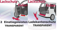 Für  VW Golf 7  3turer SparSet Ladekantenschutz Einstiegsleisten transparent