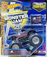 HOT WHEELS MONSTER JAM METAL MMULISHA with Team Flag 1/64 Scale