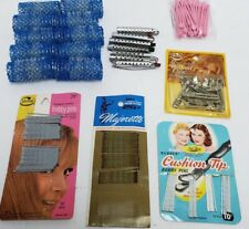 Vintage Hair Care Accessories Brush Pics Rollers Curlers Bobby Pin Pin Curl Clip