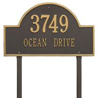 Whitehall Products Arch Marker House Plaque Address Number Estate Size Lawn