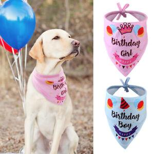 Dog Birthday Bandana Boy Girl Party Decorations Cute Pet Cat Collar Neck Scarf