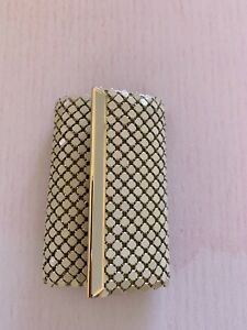 Glomesh Style Cream Key Case  Vintage 70's Metal Mesh Wallet Purse Holder