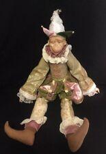"Katherine's Collection Wayne Kleski Retired 24"" Monkey Jester Doll"