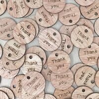 25mm Thank You Round Tags Wooden Shabby Chic Craft Scrapbook Vintage Confetti
