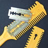 Barber Scissor Hair Cut Styling Razor Magic Blade Comb  Hairdressing ToolER