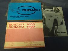Factory 1976 SUBARU 1400 1600 Owners Manual Original Packet Books 76 Service