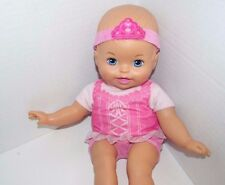 Fisher Price Baby So New Doll Little Mommy pink ballerina blue eyes Used