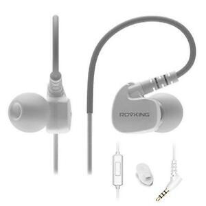ROVKING Wired Sweatproof Earhook in Ear Sport Workout Headphones Noise Isolating