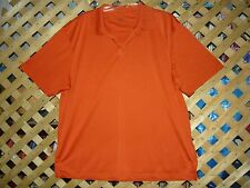 Mens Falls Creek Burnt Orange Stretch Polo Golf Shirt Size XL NEW