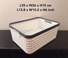 Large Multifunctional Plastic Storage Basket Organizer for Office Kitchen Bath