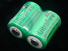 2PC High Quality CR2 3V 800MA Ultrafire Li-ion Rechargeable Battery Batteries