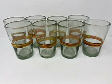 Hand Blown Drinkware - 8 Thick Glass 18oz Tumblers / Cups