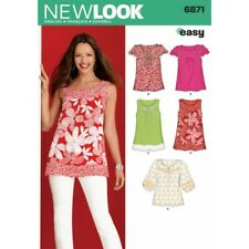 LOOK 6871 Size a Misses Tops Sewing Pattern Multi-colour