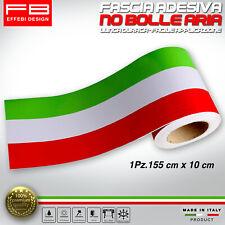 Fascia Striscia Adesiva Tricolore Ialia Flag Stripes Bandiera Italy 155 x 10 cm