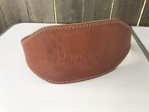 """Harbinger 6"""" Padded Leather Weight Lifting Belt Size Small S Used"""