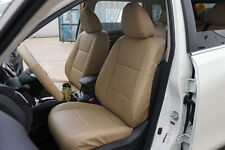 BEIGE S.LEATHER CUSTOM MADE FIT FRONT SEAT COVER FOR NISSAN ROGUE 2013-2017