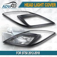 MATT Black Head Light Cover Protector Fit For Mazda BT-50 BT50 2012-2018