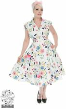 Hearts & Roses 1940s WW11 Style White Blossom Floral Tea Dress