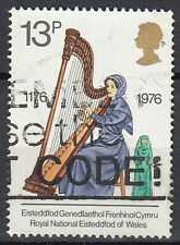 Großbritannien England gestempelt Harfe Instrument Eisteddfod Wales 1976 / 640