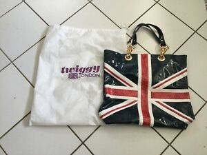 Twiggy London Large Tote Bag Red, White & Blue