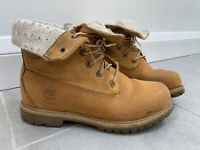 Womens Timberland Water Proof Fold Down Ankle Boots Size UK 6 EU 39 Tan Sand