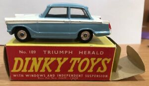 "Dinky Toys 189  Triumph Herald  Sedan in Original Box  ""Used"""
