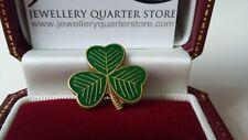 St Patrick's Day Irish Shamrock Clover Green 18mm Lapel Pin Brooch - Gift Boxed