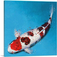 ARTCANVAS Koromo Koi Carp Fish Japan China Asia Canvas Art Print