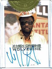X-Men Origins Wolverine Movie Autograph Card Will.i.am as John Wraith Dealer Inc