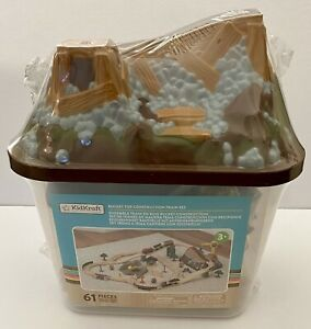 KidKraft Bucket Top Construction Train Set 61 Pieces Ages 3+ NEW SEALED