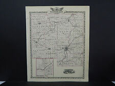 Illinois County Map 1876 Counties of Winnebago or Stephenson, Reversible Q1#72