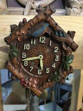 Vintage 1935 bluebird with six logs lux Clock