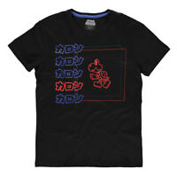 NEW! Nintendo Super Mario Bros. Neon Japanese Dry Bones T-Shirt Male L Black TS3