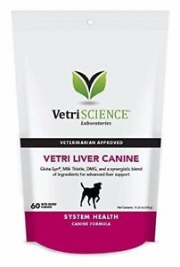 Vetri Science Liver Health Detoxification Canine Bite-Sized Dogs Chews 60ct