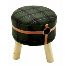 Dark Green Round Footstool  MIN 2157
